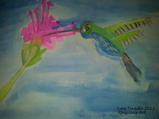 LU's Hummingbird Water Color Paint